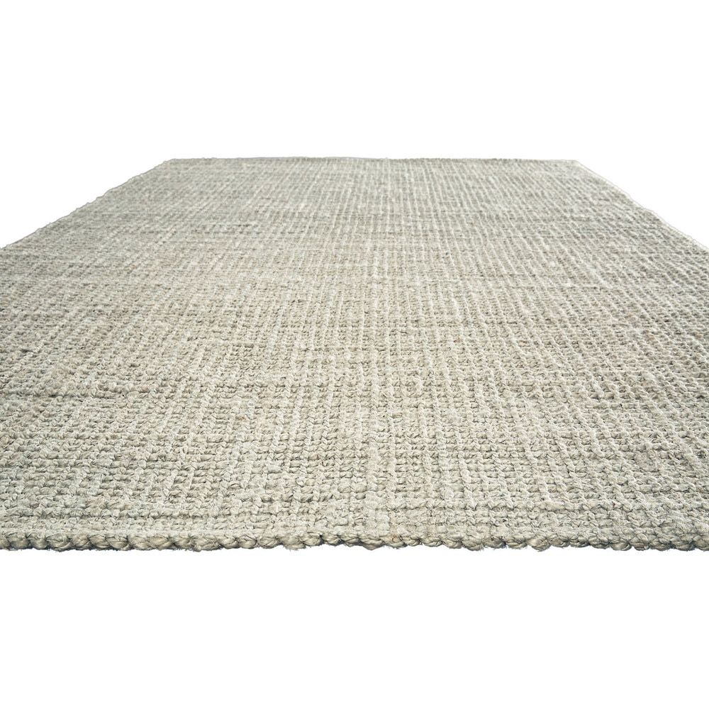 Youth Stripes Pattern Grey/ Silver Jute Area Rug (9' x 12') - Free Shipping Today - Overstock.com - 18953112 - Mobile