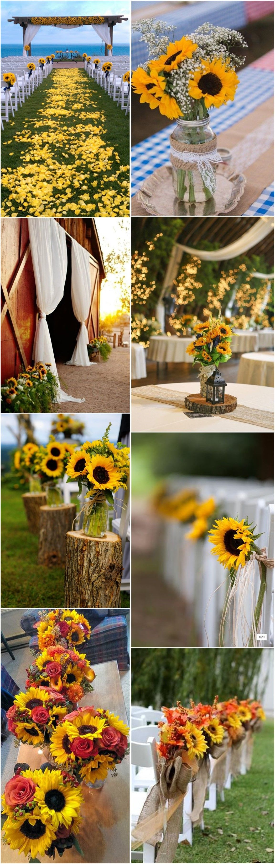 23 bright sunflower wedding decoration ideas for your rustic wedding 23 bright sunflower wedding decoration ideas for your rustic wedding junglespirit Images