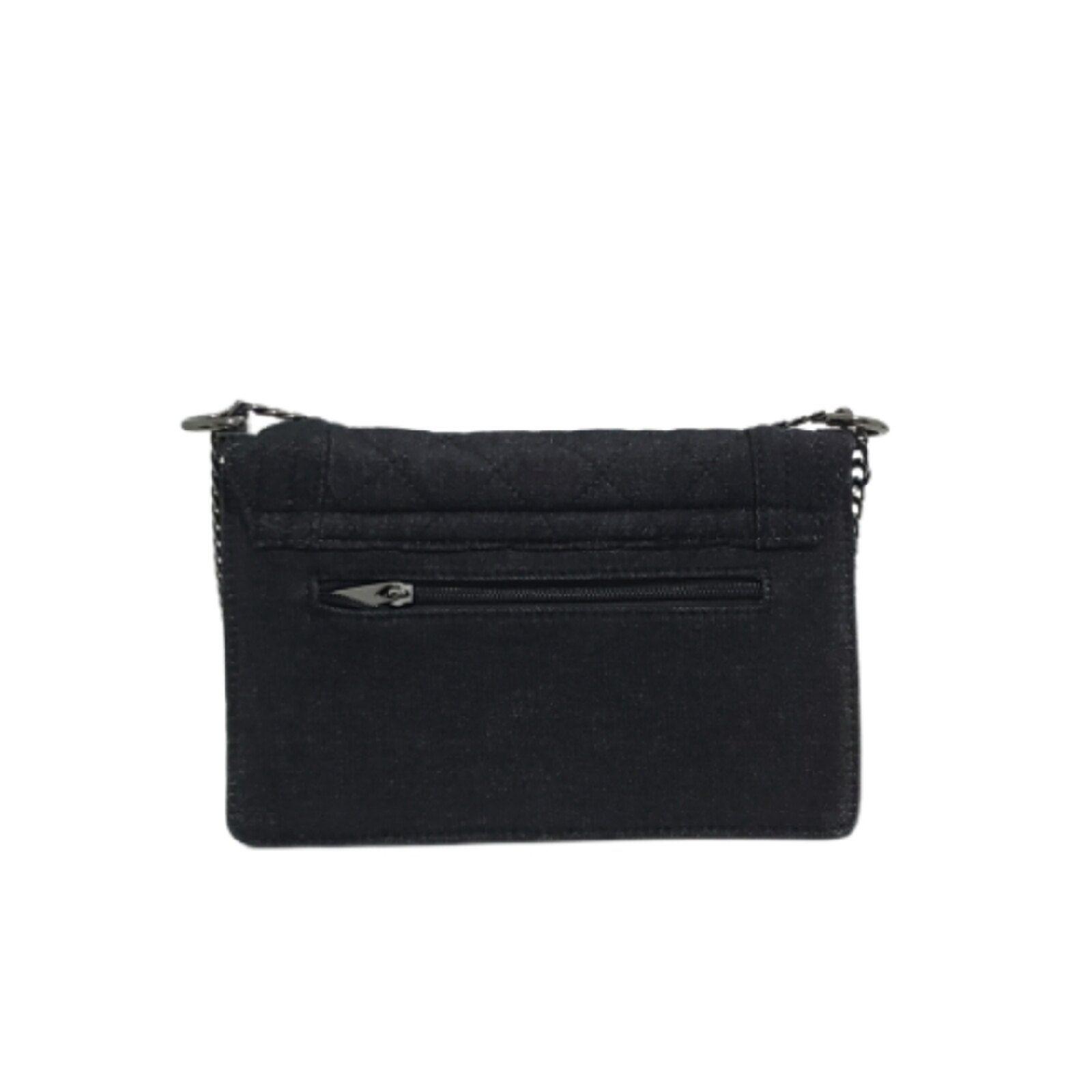 Fanlice Small Crossbody Bag Bolsos y accesorios Jeans Correa de cadena Negro