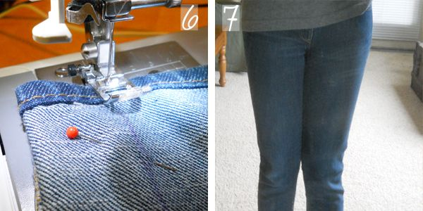 Diy chic: transforming old jeans into skinny jeans