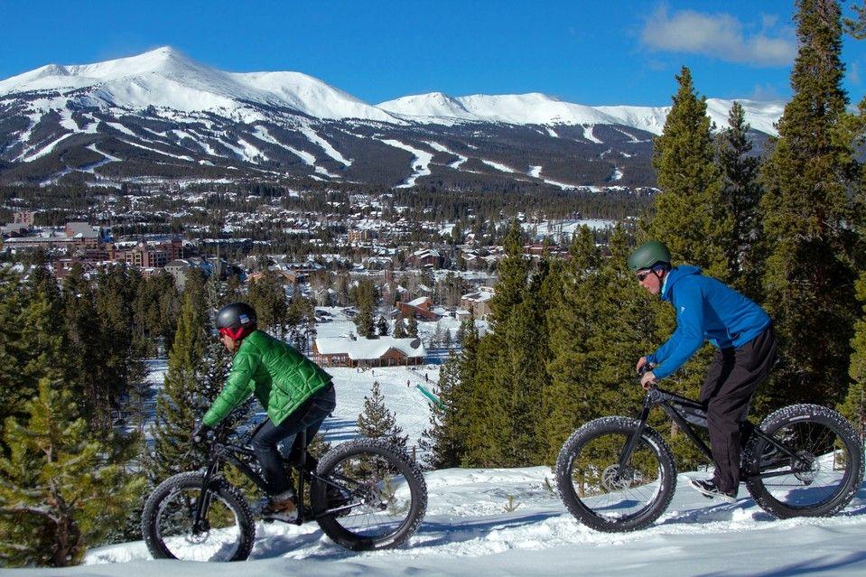 Snow Cycling in Colorado Ski Country Colorado skiing