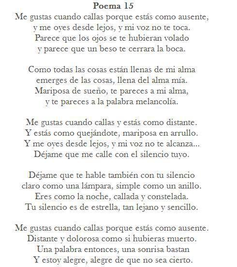 Pin De Macarena Gomez Barrenechea En Palabras Poemas Poema 15 Poemas De Amor Frases