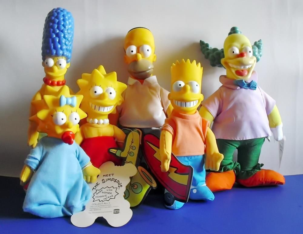 5x The Simpsons Doll Set Burger King Plush Dolls Krusty The Clown Krusty The Clown Doll Sets Movie Characters
