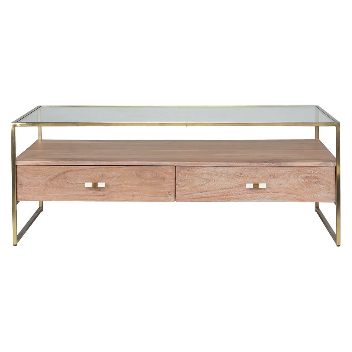 Phenomenal Artemis 2 Drawer Coffee Table Washed Natural Furniture Machost Co Dining Chair Design Ideas Machostcouk