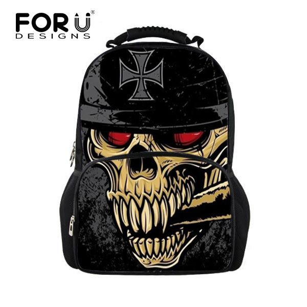 Unique Children Backpacks Cool 3D Skull Backpack for Boys Casual ...