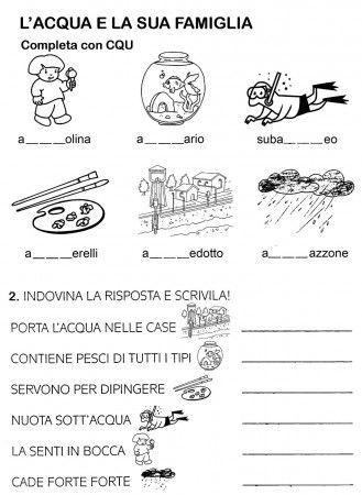 Scheda Lacqua E La Sua Famiglia Cl Prima Italiano Classe 1 E