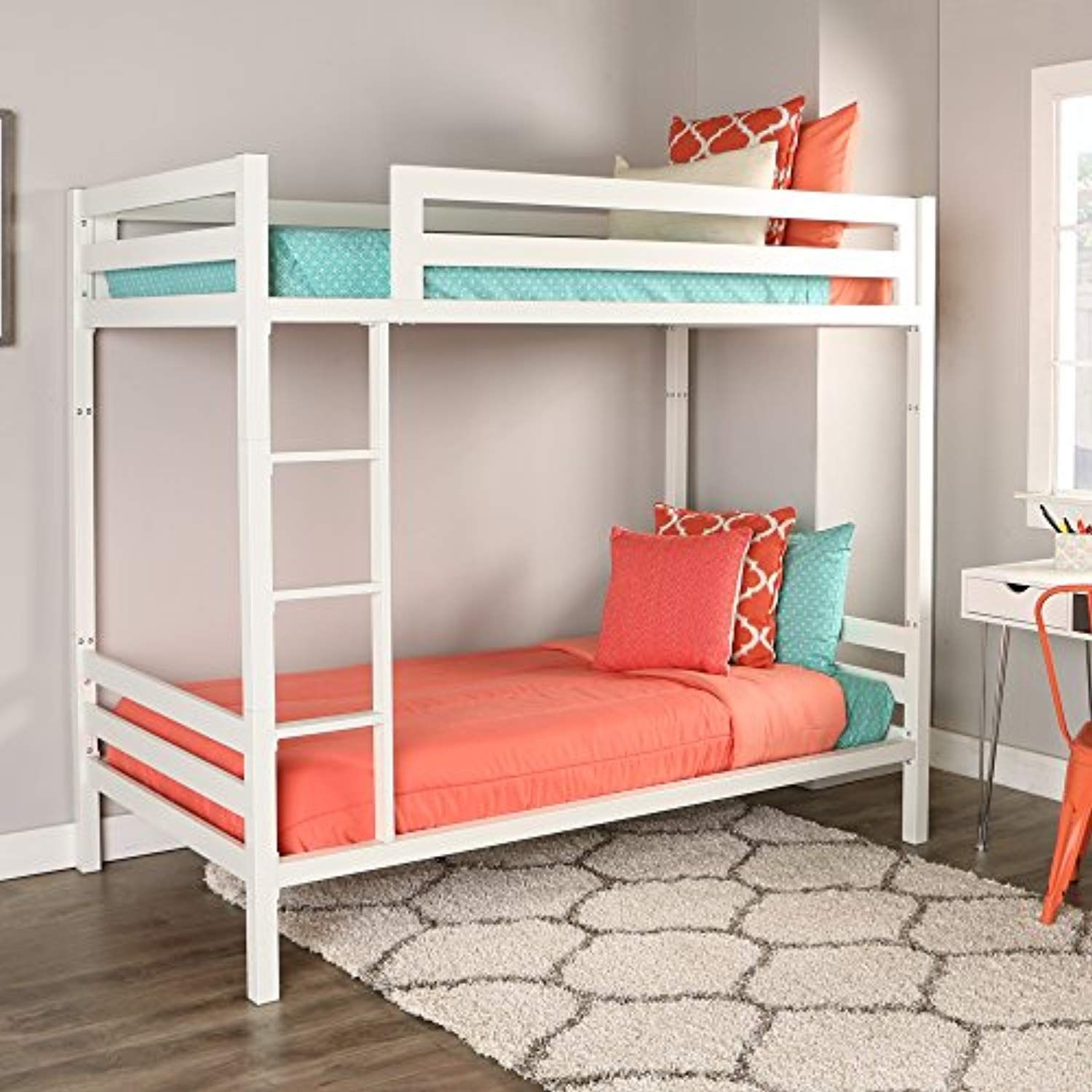 We Furniture Premium Twin Metal Bunk Bed White Check Out This Great Product This Is An Affiliate Li Metal Bunk Beds Bunk Beds With Stairs Cool Bunk Beds