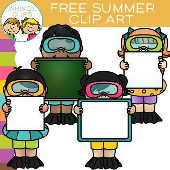 free summer swim kids with signs clip art clipart beach ocean rh pinterest com au