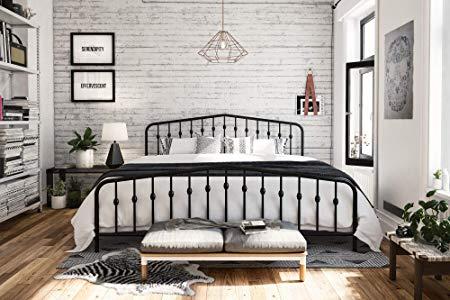 Novogratz 4044049N Bushwick Metal Bed, King