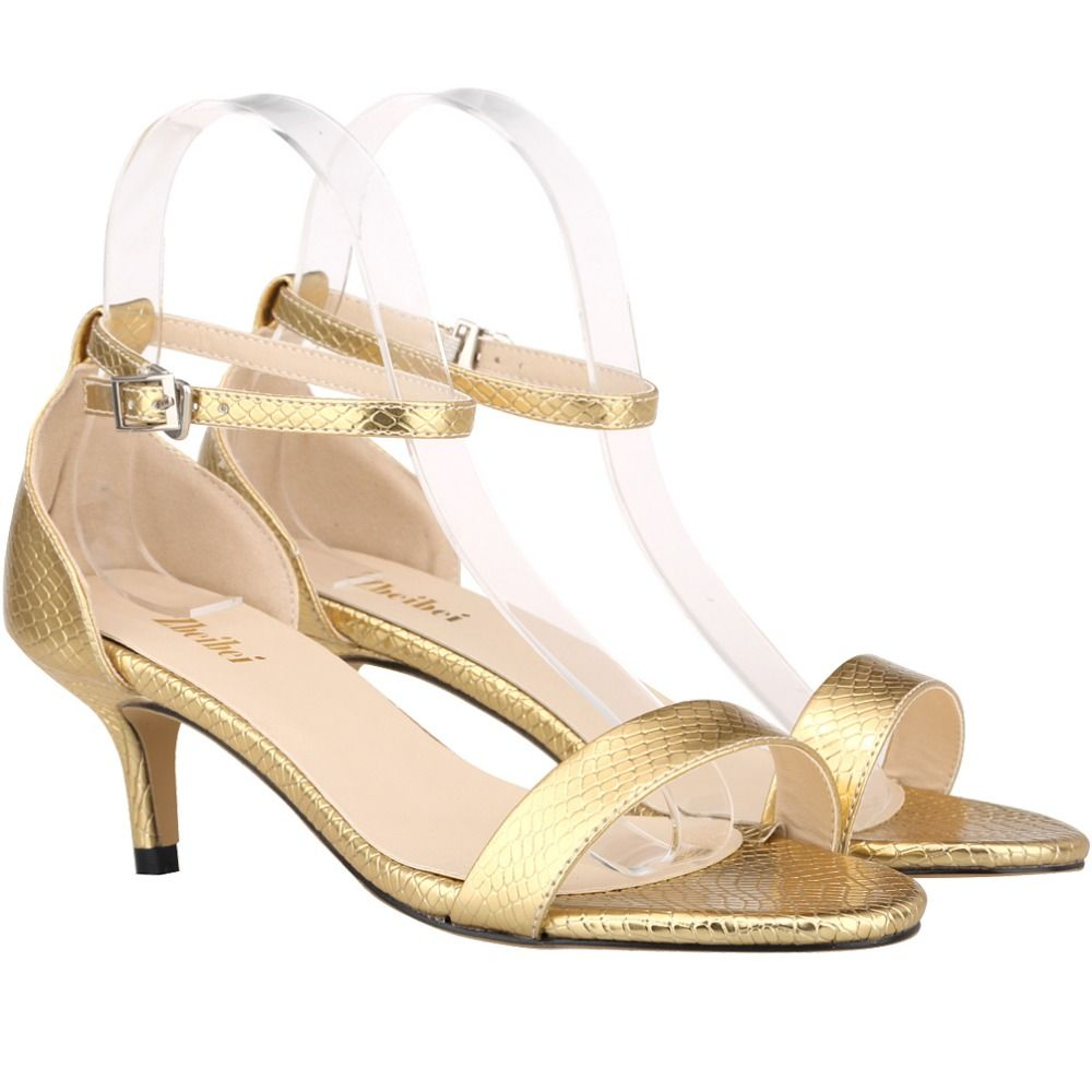 Gold Wedding Shoes Low Heel