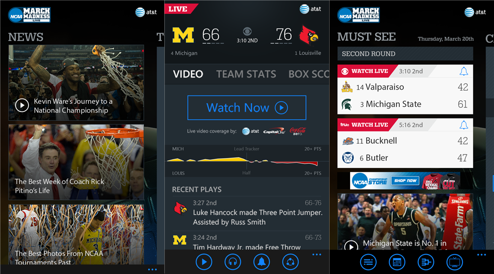 NCAA March Madness Live application is now available for