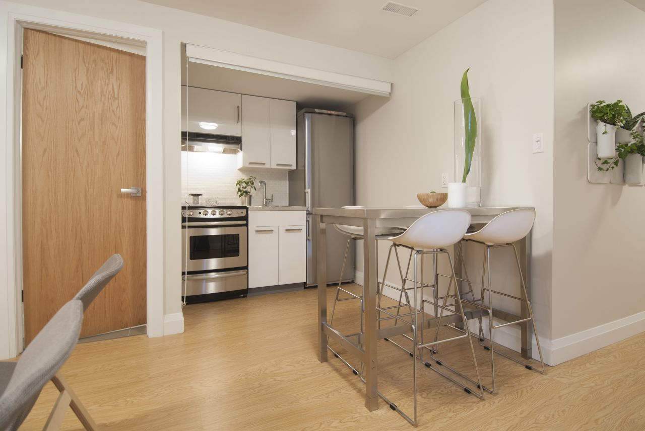 Design Gallery | Small basement kitchen, Income property ...