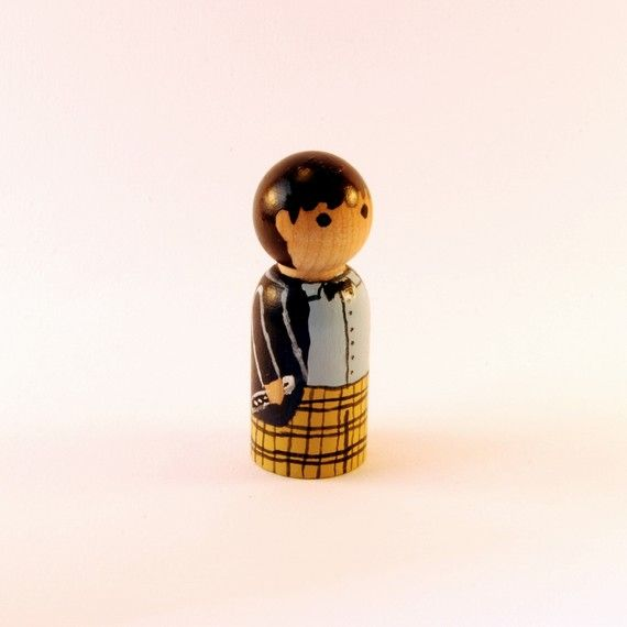 Doctor Who - Patrick Troughton peg doll by RandomlyGenerated #etsy #drwho