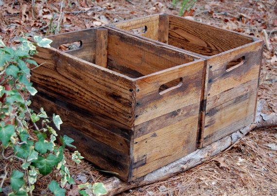 Set Of Medium Provincial Wooden Crates Vintage Wooden Crates Wooden Crates Wooden Crates Wholesale