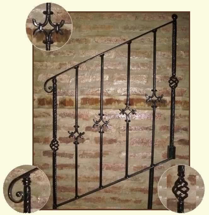 Pin barandas para balcones escaleras herreria com portal ...