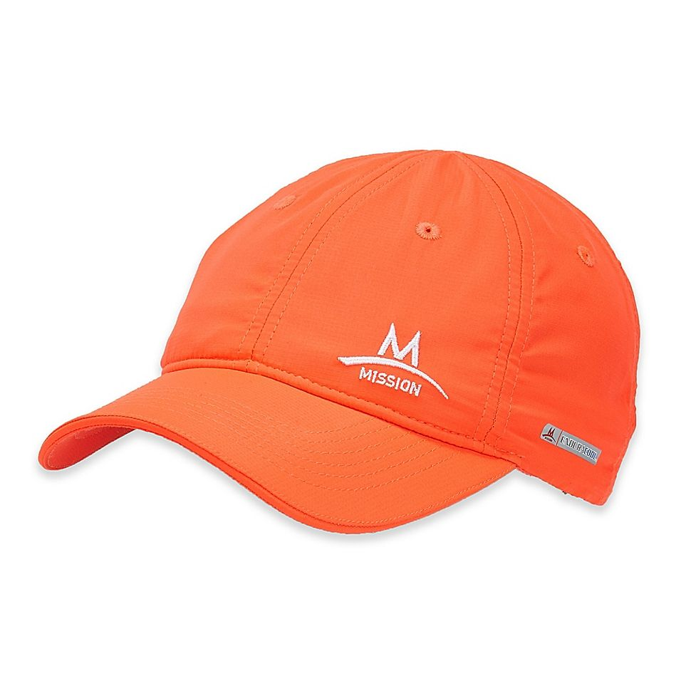 Mission Enduracool Performance Hat In High Vis Coral Workout