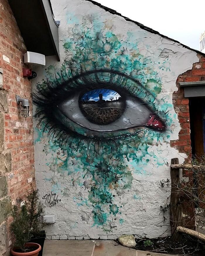 Eyes that reflect the world of street art