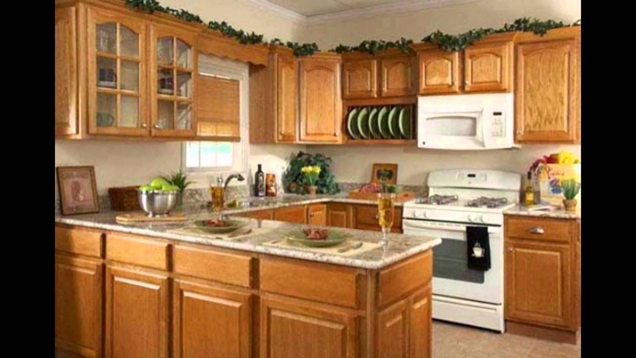 Honey Oak Kitchen Cabinets  Rustic Kitchen Decorating Ideas Check Pleasing Kerala Home Kitchen Designs Review