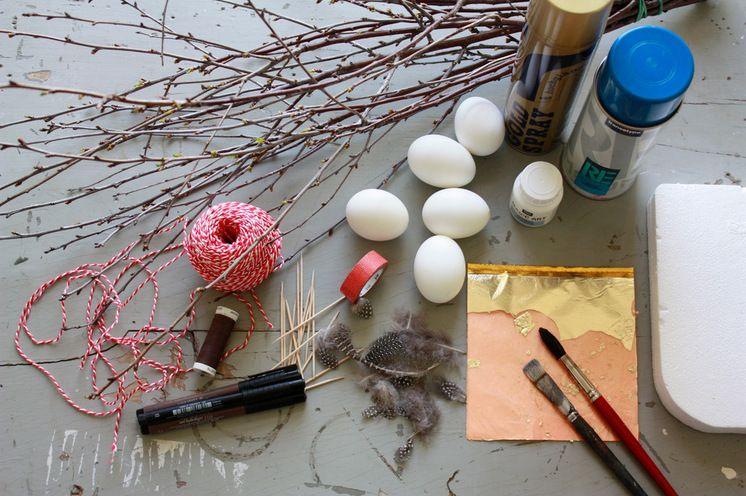 Eklektisch  Oster-DIY: Verwendetes Material