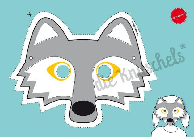 Das Ist Die Kindermaske Vom Wolf Zum Ausdrucken Für Die