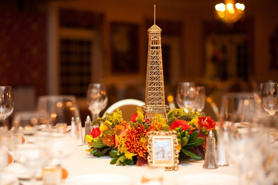 Parisian Inspired Eiffel Tower Centerpieces