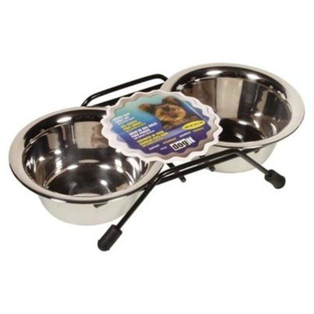 I'm learning all about Hagen Dogit Stainless Steel Double Dog Diner Size Extra Large 3.8 H X 20.3 W X 9.8 D at @Influenster!