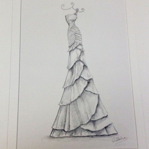 Wedding dress pencil sketch 480x480 jpg
