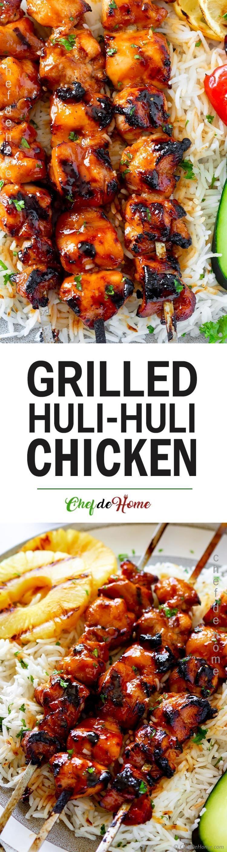 An easy and flavorful Huli Huli Chicken recipe with homemade pineapple-ginger Huli Huli Sauce and same Hawaiian grilled Huli Huli chicken flavor. An easy and flavorful Huli Huli Chicken recipe with homemade pineapple-ginger Huli Huli Sauce and same Hawaiian grilled Huli Huli chicken flavor.