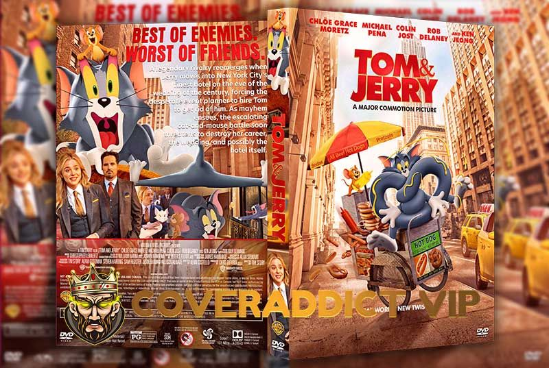 Tom And Jerry 2021 Dvd Cover In 2021 Dvd Covers Tim Story Tom And Jerry