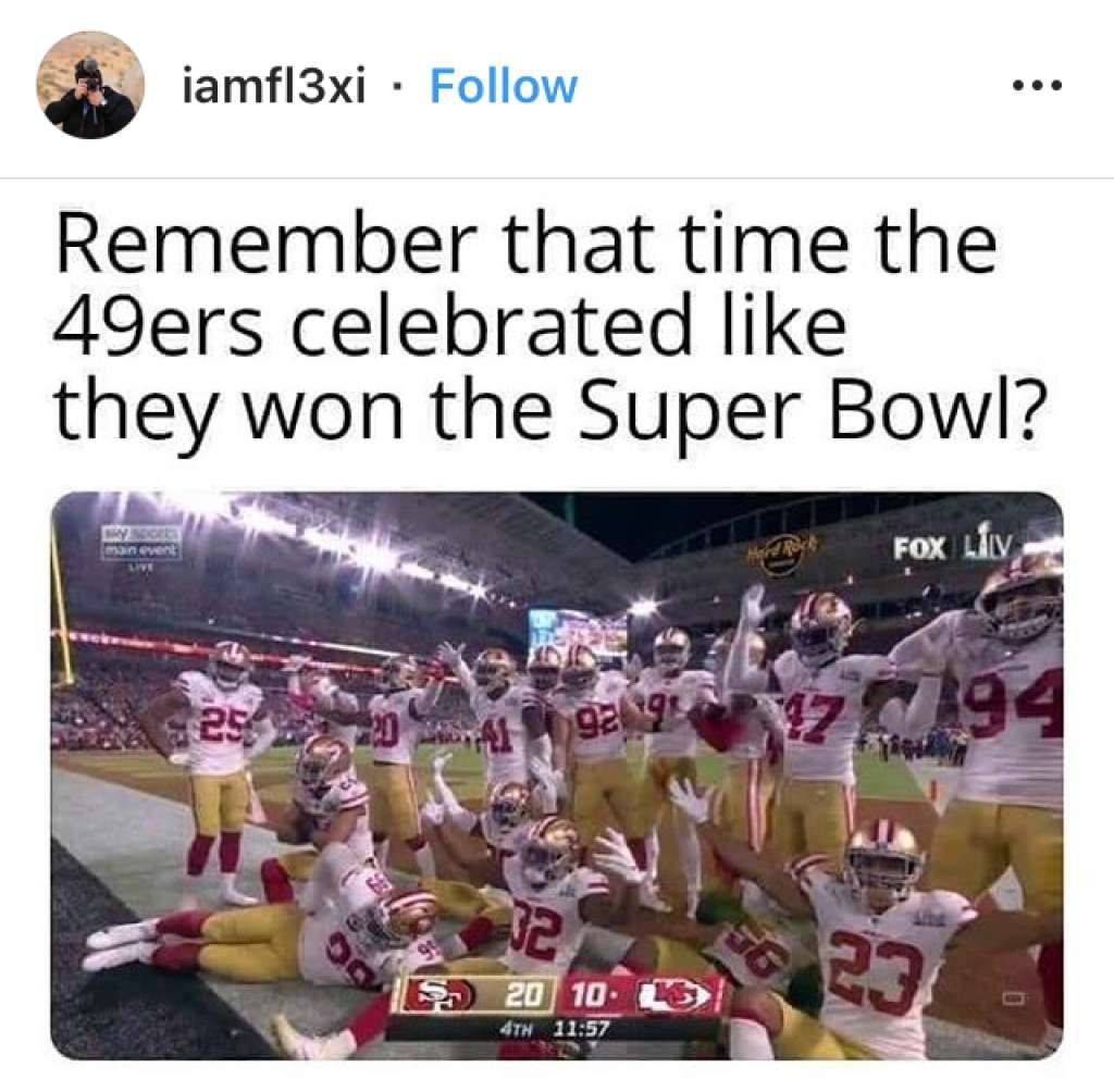 P The Internet Reacts To The 49ers Loss In Super Bowl 54 P Nfl Memes Super Bowl Super Bowl Commercials