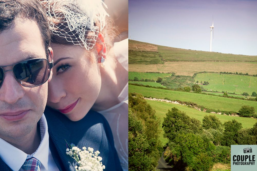 Beautiful couple & landscape shots. Irish Marquee wedding photographed by Couple Photography.
