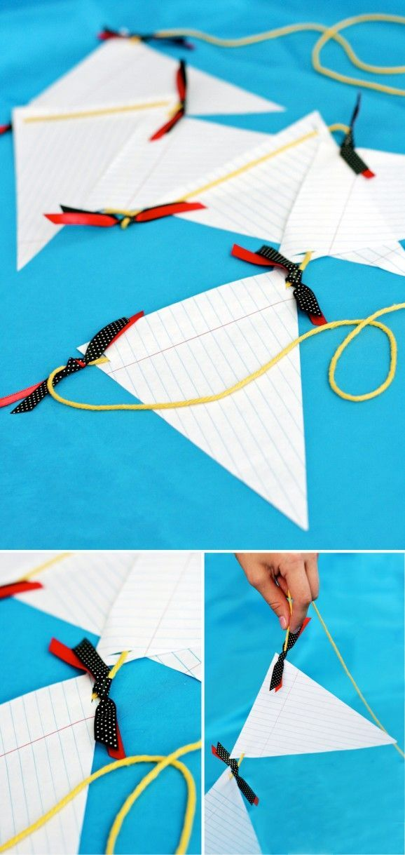 Super Easy Notebook Paper Banner Backtoschool Garland  Back To