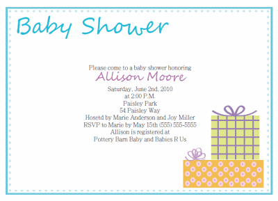 Sample Of Baby Shower Invitations  Baby Shower Invitations Words