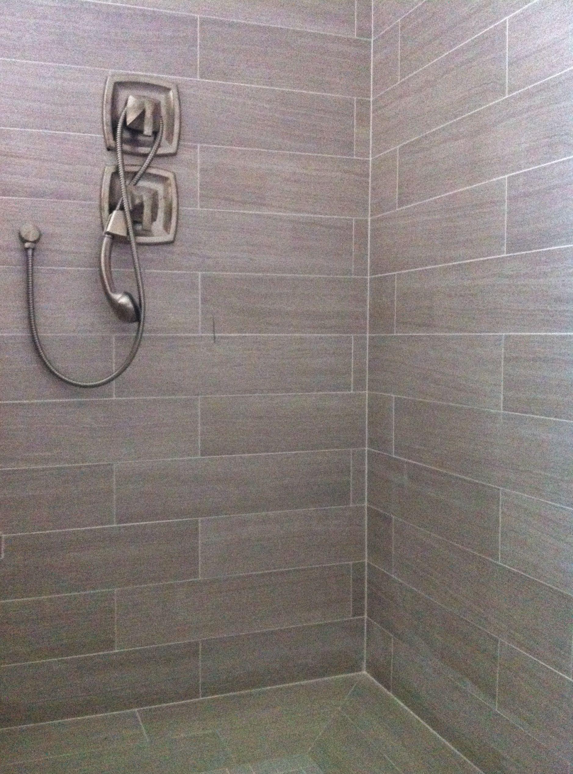 6x24 Porcelain Tile Patterned Bathroom Tiles Tile Bathroom
