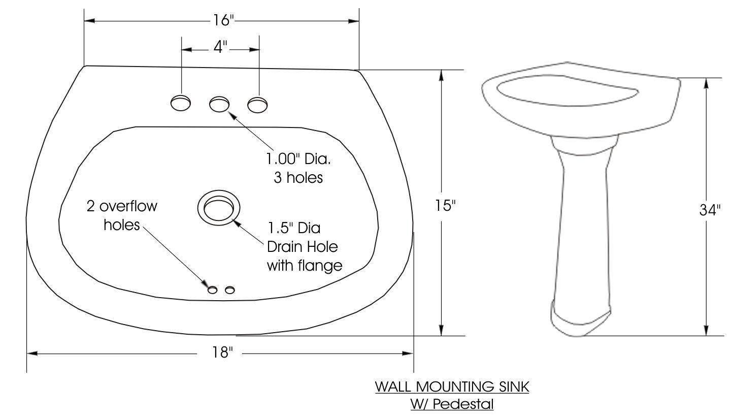 Pedestal Bath Sink Dimensions Wallmountpedestalsink Bath Sinks Bathroom Sink New Toilet