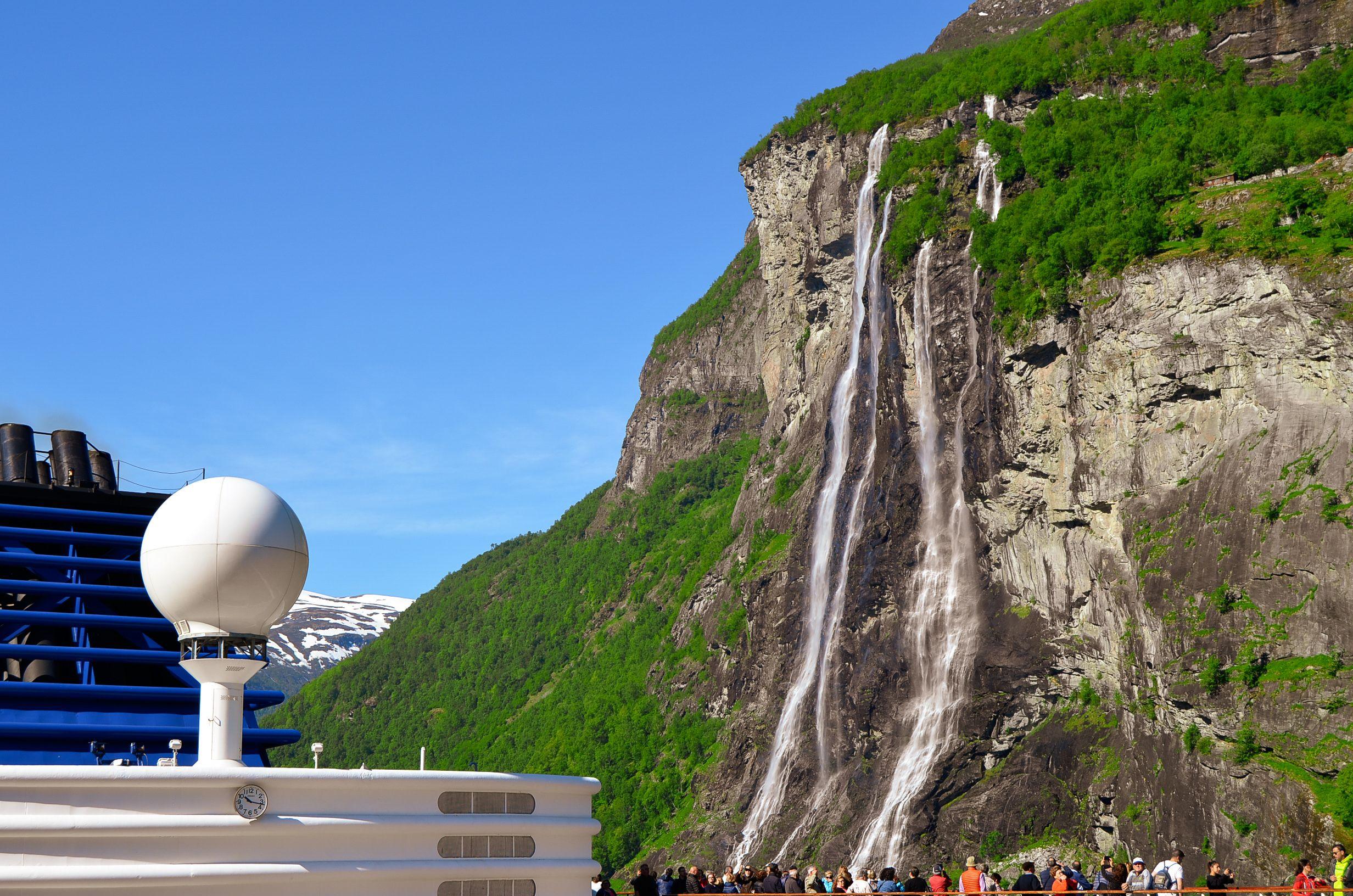 Geiranger, Noruega. Y fiordo Geirangerfjord