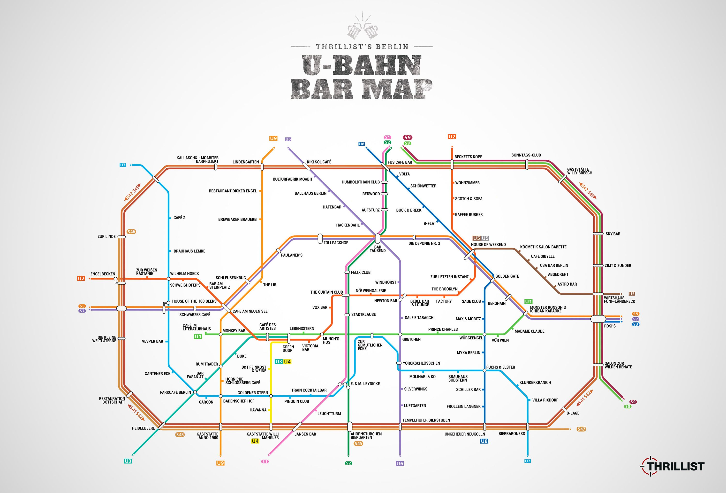 Berlin U Bahn Bar Map Take Me Back To Europe Mapa Del Metro