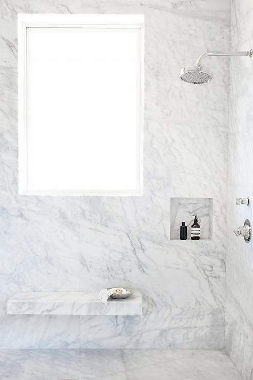 Phenomenal Gorgeous Marble Clad Shower Is Lined With A Floating Marble Alphanode Cool Chair Designs And Ideas Alphanodeonline