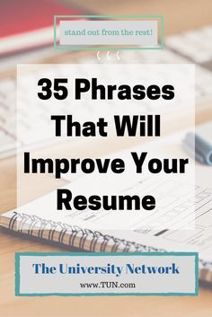 35 phrases that will improve your resume pinterest resume