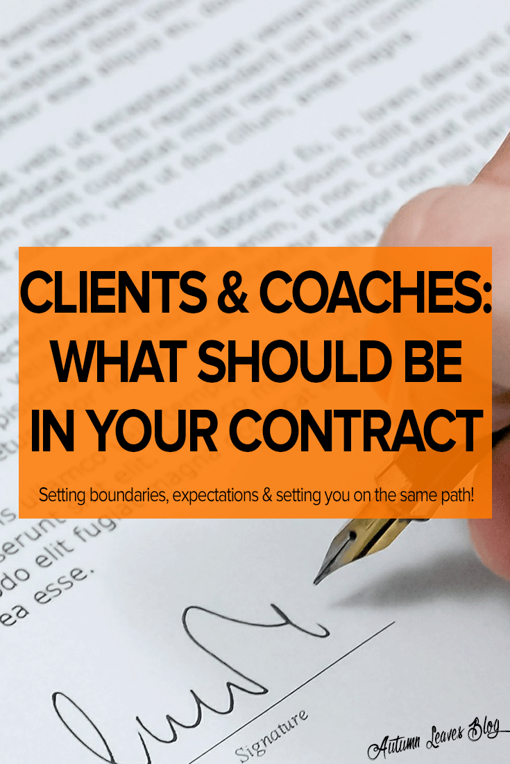 How To Write A Coaching Contract
