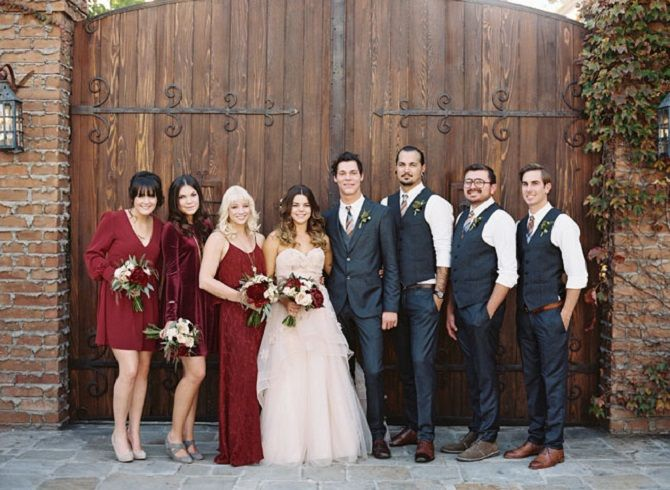 Burgundy bridesmaid dresses perfect choice for fall wedding