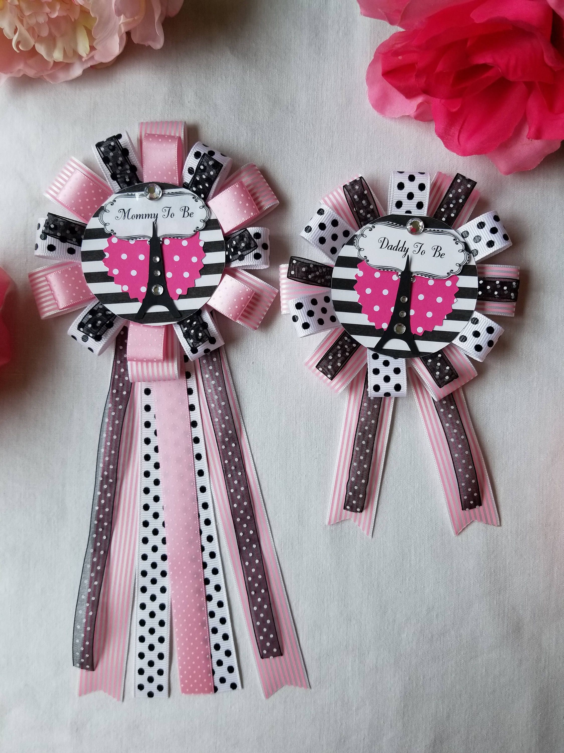 Baby Shower Corsage Mommy To Be Daddy To Be Corsage Pin Set