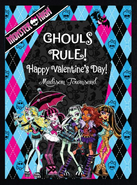Monster High Valentine Check This Out And More At Delightinvite