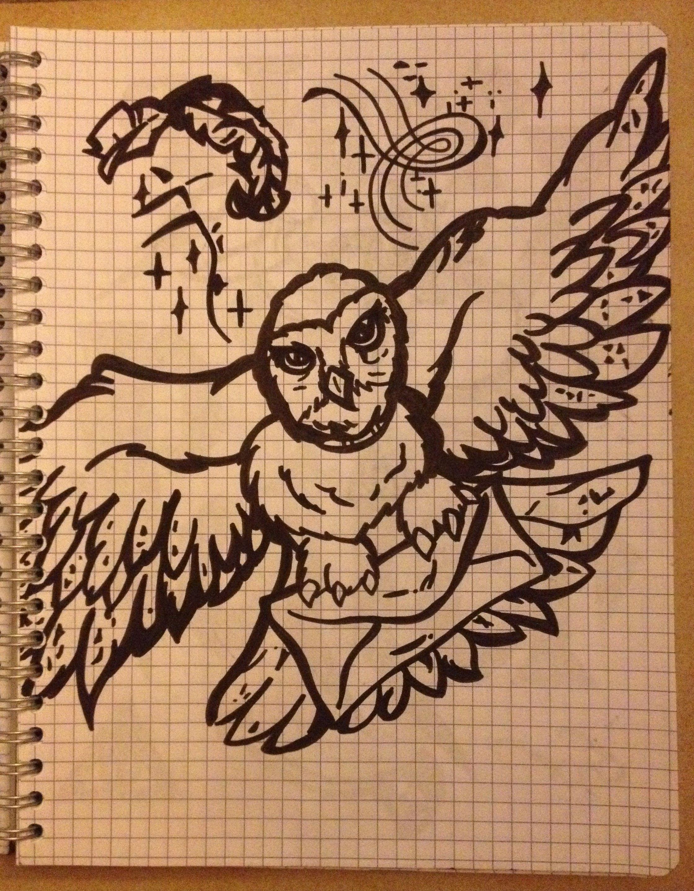 Fandom's drawing ~ Harry Potter, Hedwige -Coline210