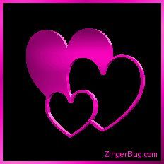 Glitter Graphics Hearts | Glitter Graphic Comment: 3D Graphic 3 Hearts Pink