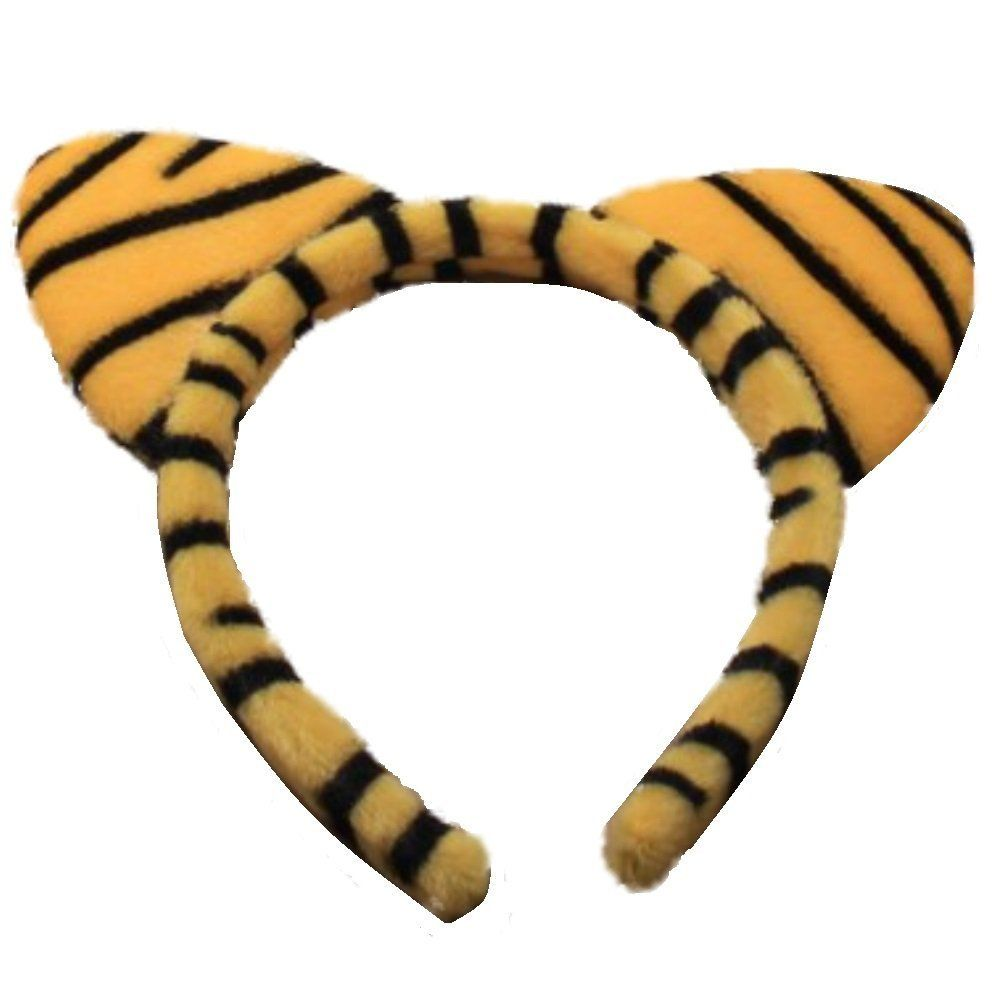 Tiger Print Soft Padded Fur Cat Ears Alice Hair Band Headband Fancy Dress Party Hen *** Learn more by visiting the image link.