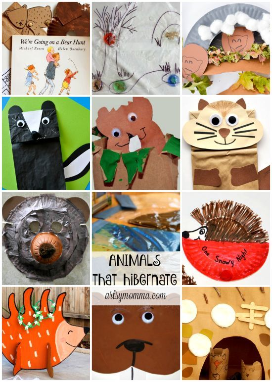 Fun Preschool Hibernation Theme Activities | Animals that ...