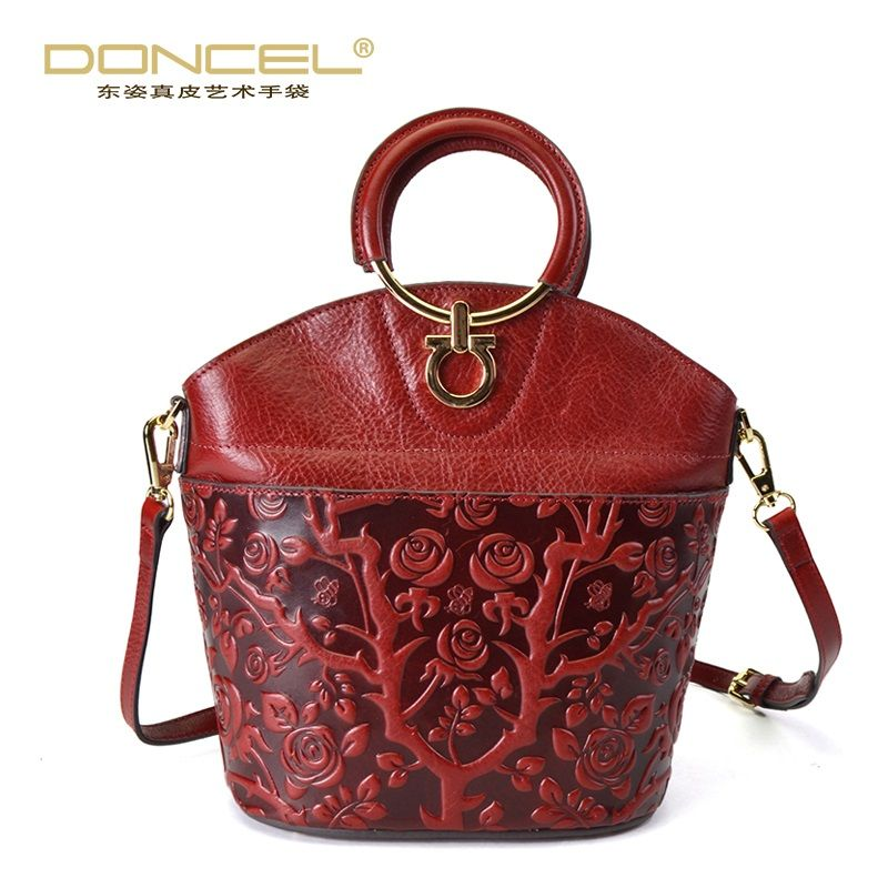 Designer Women Leather Handbags High Quality Real Leather Tote Bag
