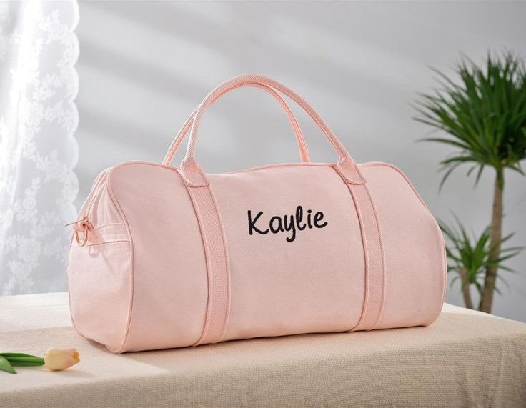 Personalized Duffle Bag Pink Weekender Bag Womens Weekend Bag Sports Duffle Bag Travel Bags
