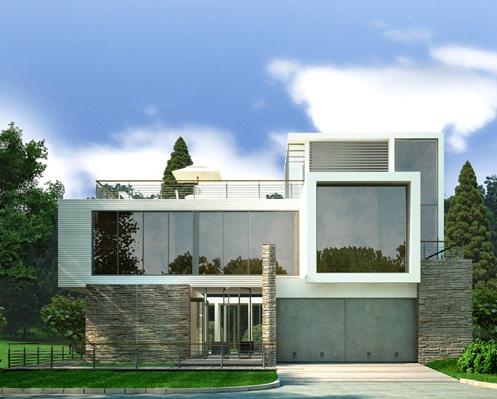 Modelos de fachadas para casas sencillas modelos de for Frentes de casas pintadas